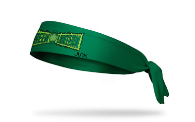 green headband with DC Green Lantern wordmark logo in full color