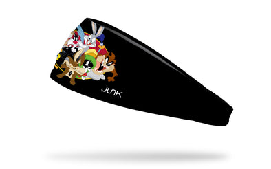 black headband with main characters of Looney Tunes cartoons in full color