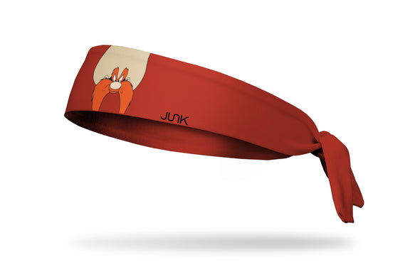 maroon headband with Looney Tunes Yosemite Sam oversized face view design