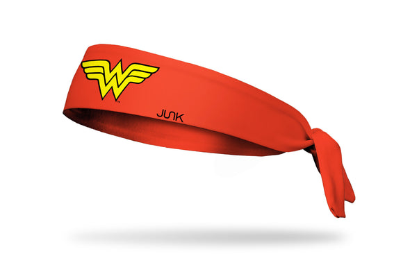 red headband with DC Wonder Woman logo in yellow front center