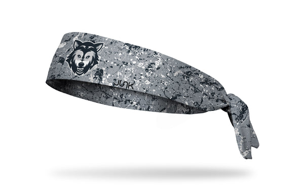 grey paint splatter headband with generic wolf mascot in full color