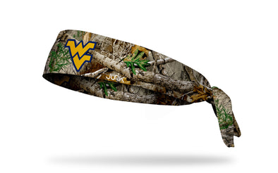 West Virginia University: Logo Realtree Edge Tie Headband