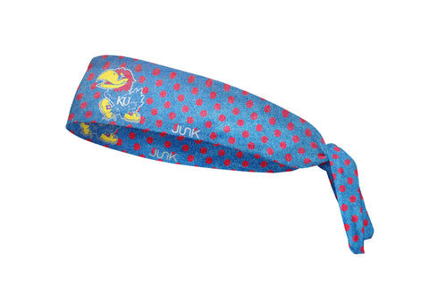 University of Kansas: Big Jay Polka Shimmer Headband