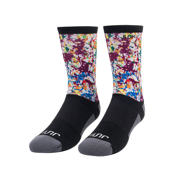Splatter Athletic Crew Sock
