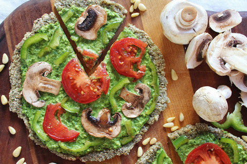 Raw Pesto Pizza