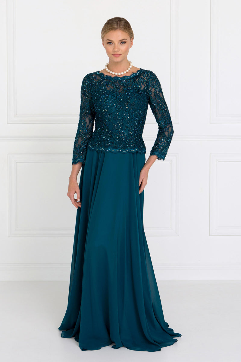 Teal Mother of the Groom Dress