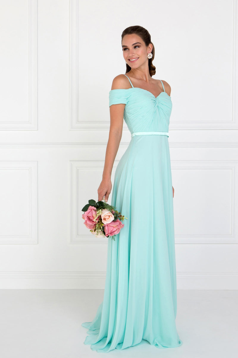 Mint Bridesmaid Chiffon Dress