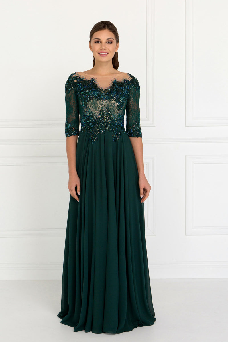 Green Mother of the Bride Dress