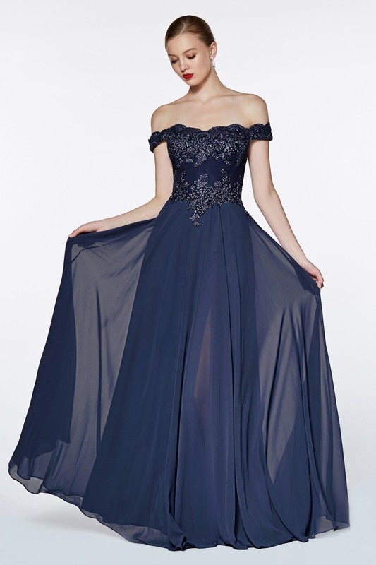 2019 Off the Shoulder Long Chiffon Maxi Bridesmaid Dress in 8 colors