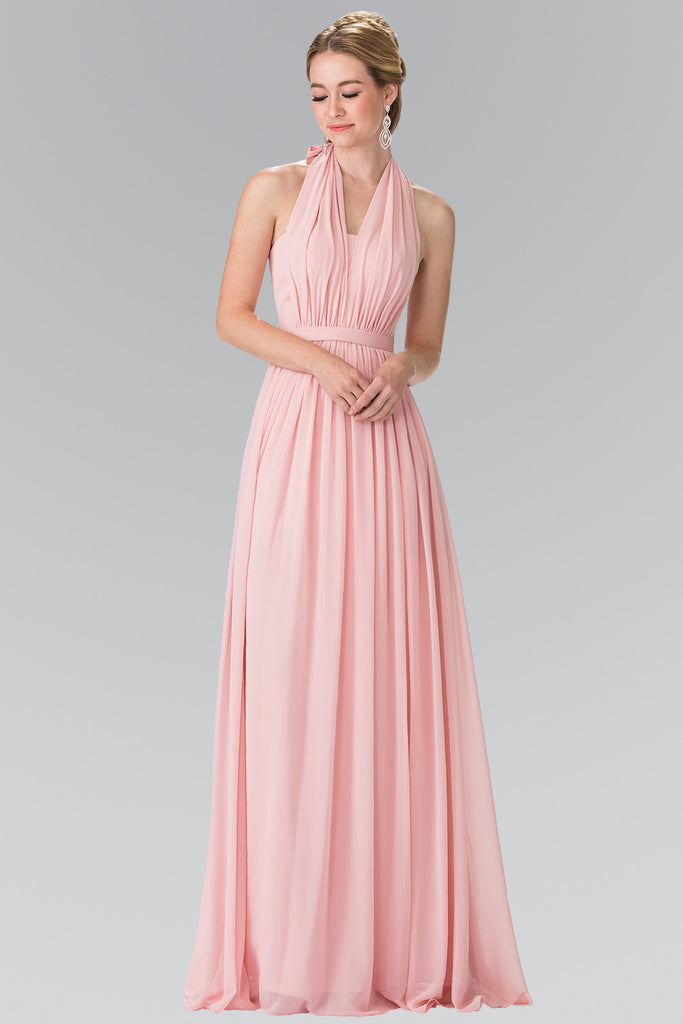Affordable Chiffon Halter Prom Dress long evening gown prom dress XS ...