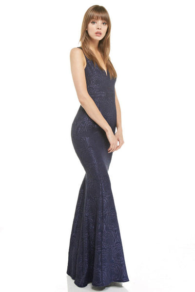 Floor length mermaid bridesmaid dress Alia Evening Gown