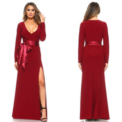 Burgundy Bridesmaid Dress