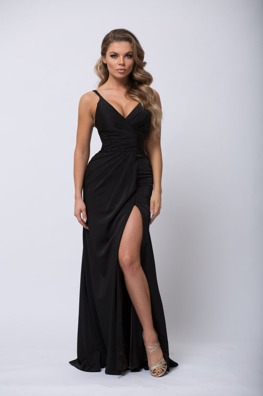 ... Long Ruched Dress ...