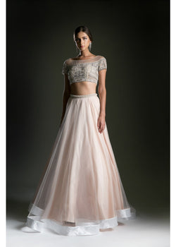 crop top prom dress
