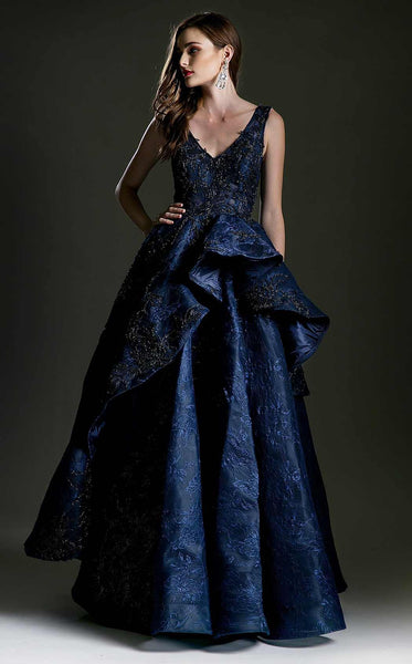 Thread & Needles Royal tiered Ball Evening Gown 2018 Prom Dress