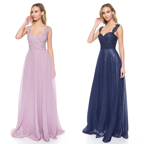 Chiffon long Maxi bridesmaid dress