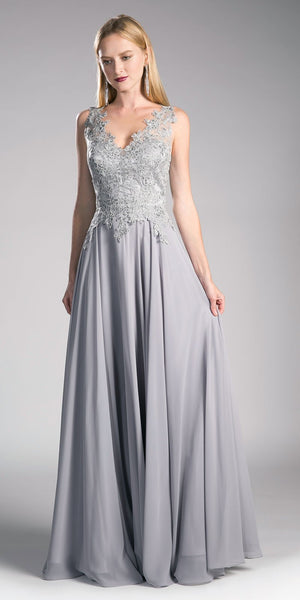 Silver Mother of the Bride Gown