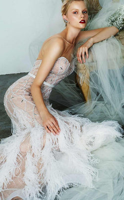 Feather Wedding gown