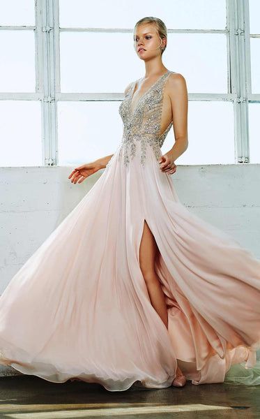 Blush runway prom dress