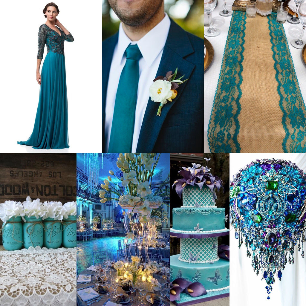 977a7390759 Teal Embellished A Line Long evening gown Chiffon 3 4 sleeves mother of the  bride dress