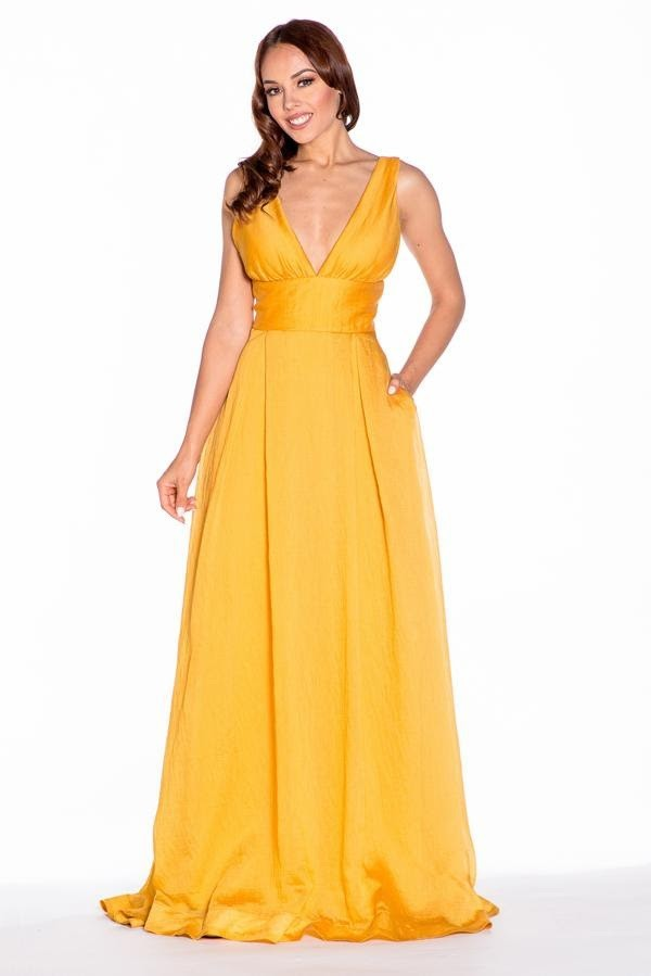Canary Yellow Bridesmaid Dress