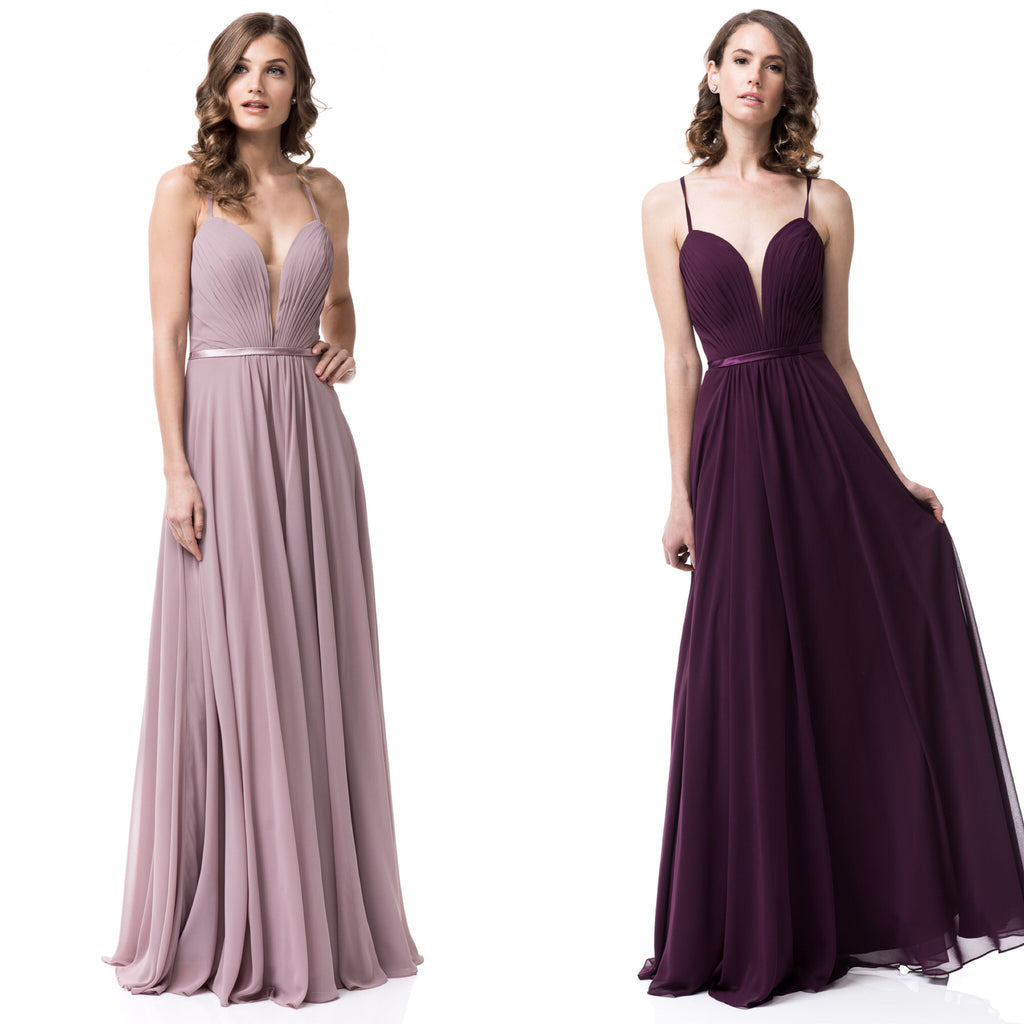 83fffbf4b7c4d Home › Floor length Mauve and Plum Chiffon Sleeveless Bridesmaid Dress. Plum  and mauve wedding theme