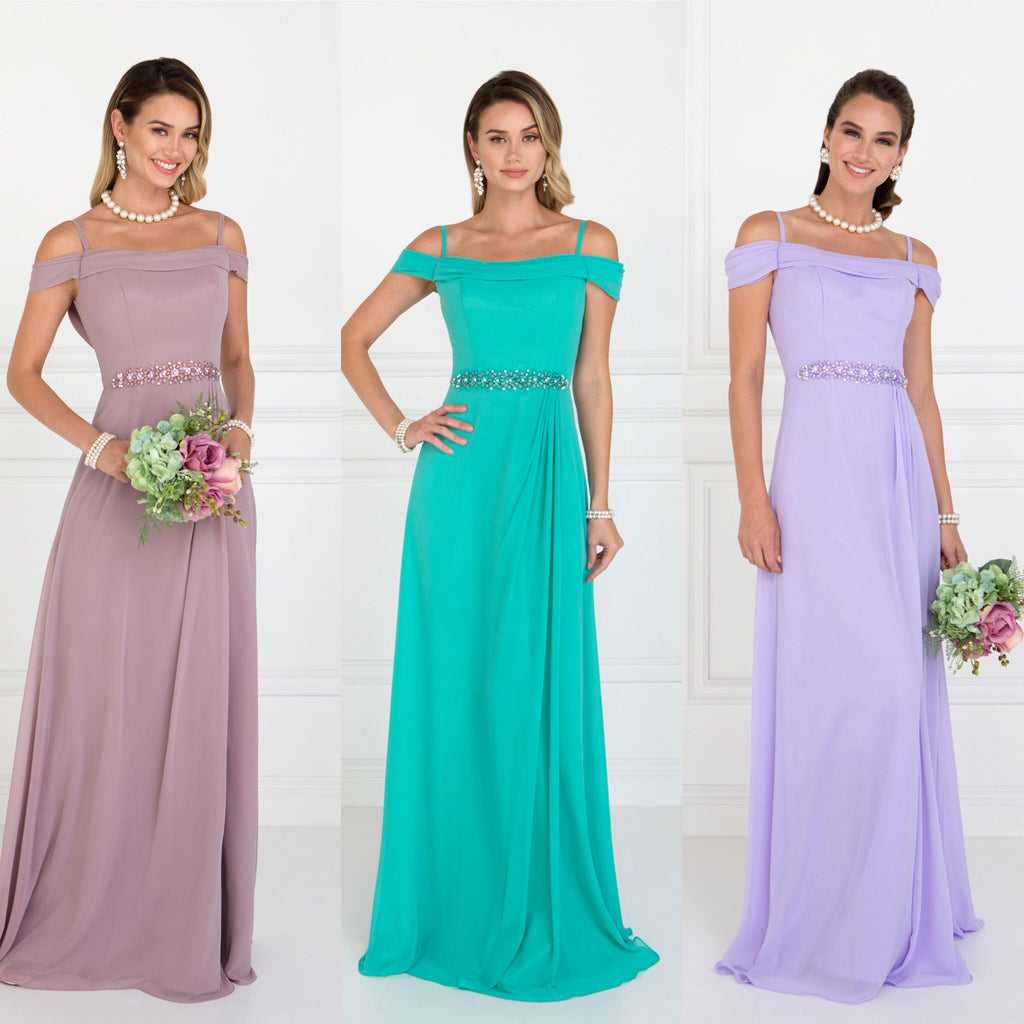 Cinderella long chiffon cold shoulder bridesmaid dress mauve tiffany lilac wedding ombrellifo Images