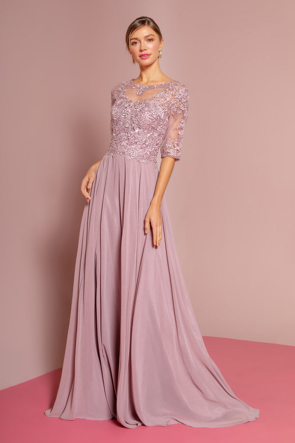 Mauve mother of the bride dress