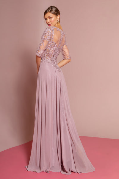 Mauve mother of the groom dres