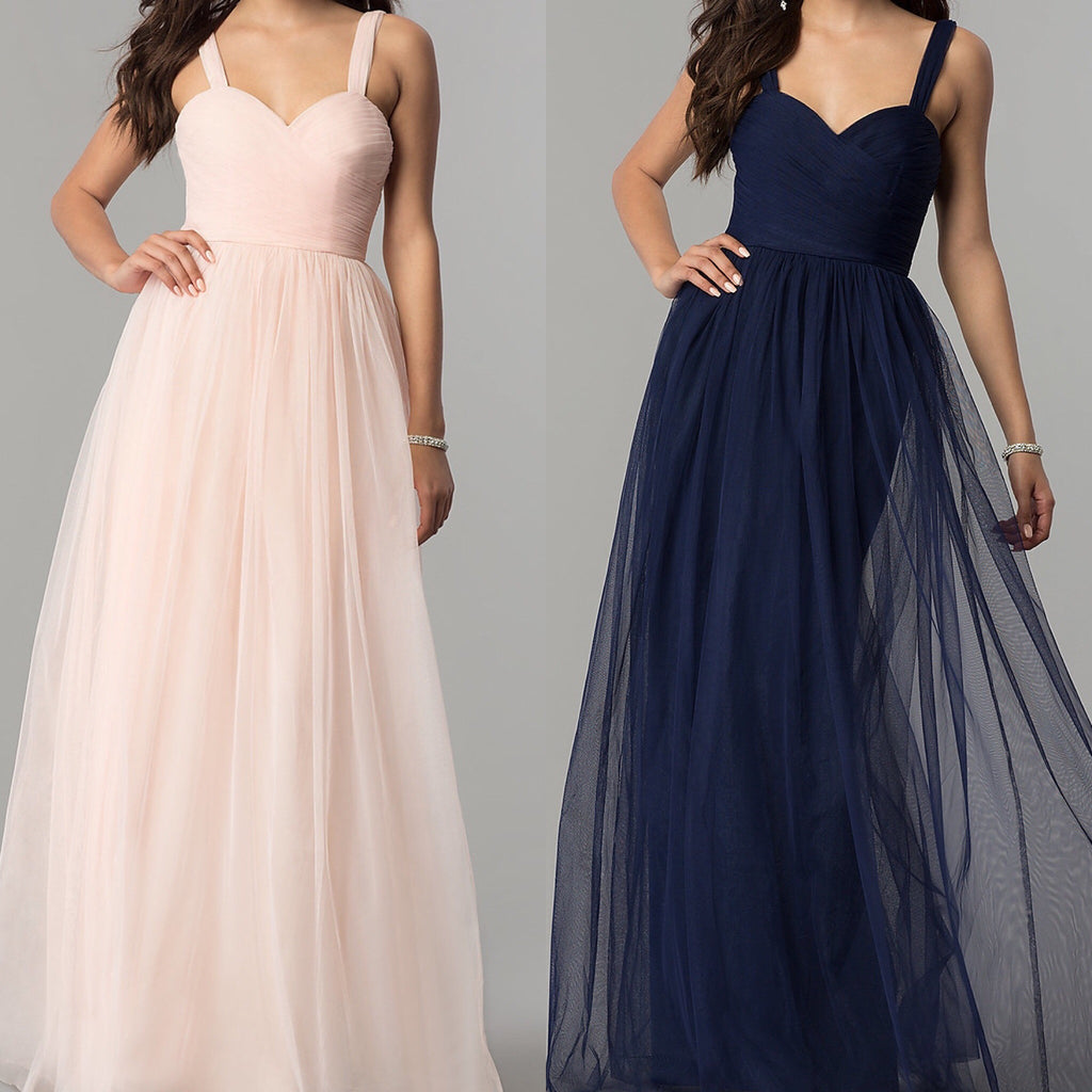 Affordable vanity floor length tulle bridesmaid dress in navy tulle bridesmaids dress ombrellifo Images
