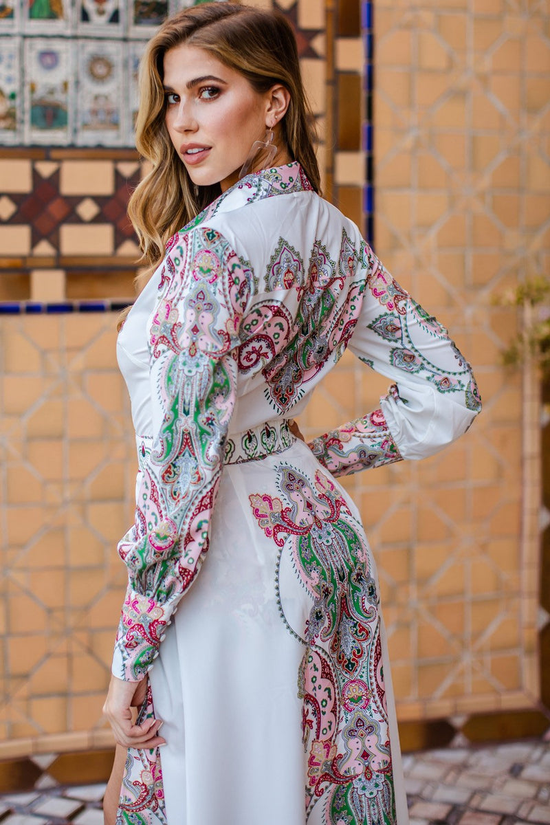 Baroque Italian print unique Romper with A train