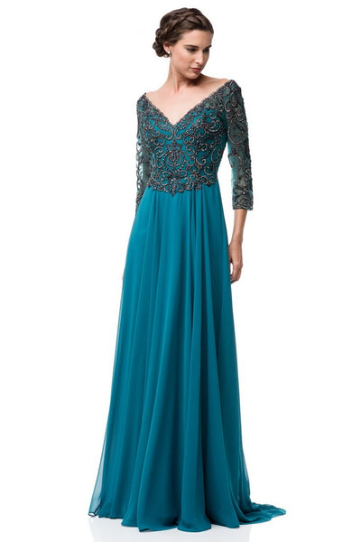 Teal Mother of the Groom dresses