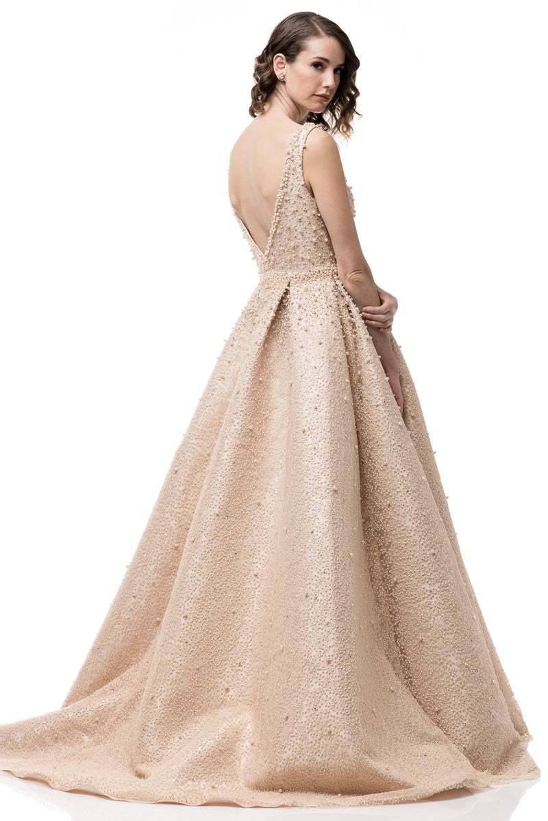 A-line prom gown