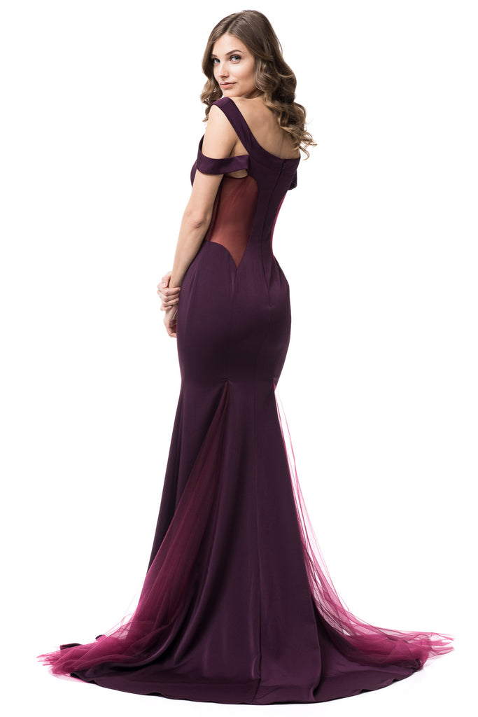 Off Shoulder Prom long gown