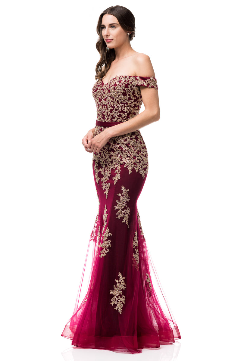 Oscar Gold evening gown