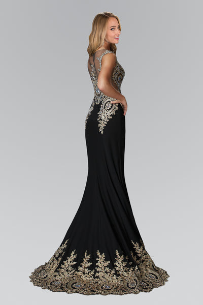 2018 Floor Length embroidered Prom mermaid Dress with Fishtail