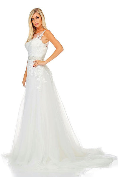 Removable Train Wedding Dress