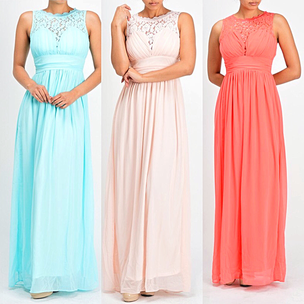 Affordable chiffon long bridesmaid dress coral pink and sky blue affordable chiffon long bridesmaid dress coral pink and sky blue ombrellifo Images