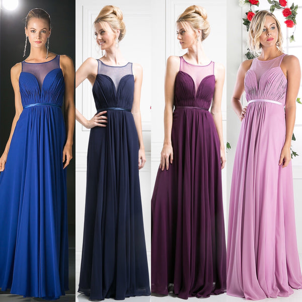 Affordable Chiffon sweetheart neckline dress in 6 colors