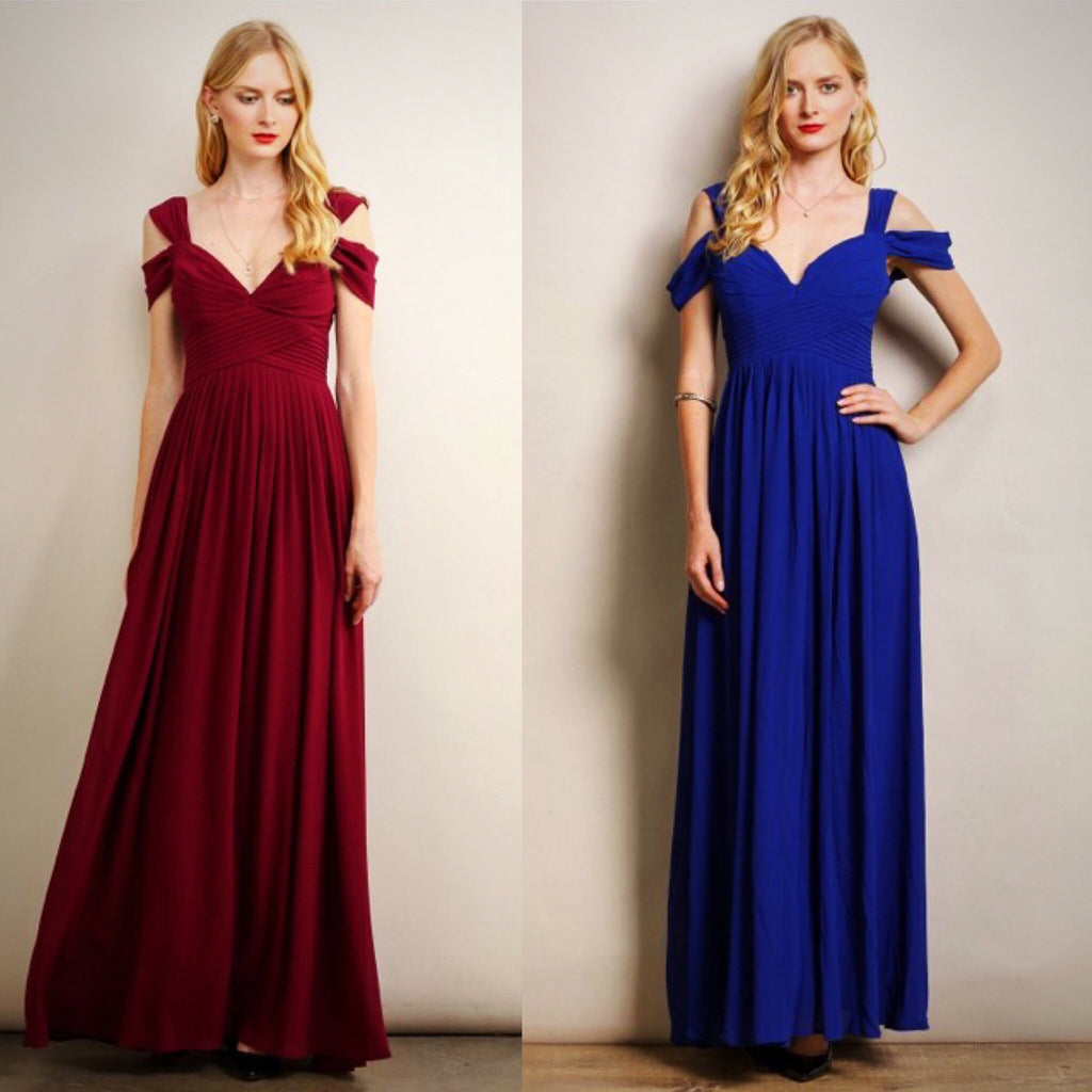 Blue Royal bridesmaid dresses with straps pictures new photo