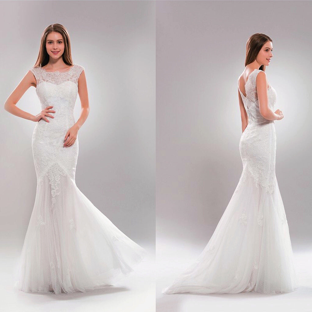 Gorgeous Mermaid Wedding Dress In Ivory And White Bridal Gown Frugal Mughal
