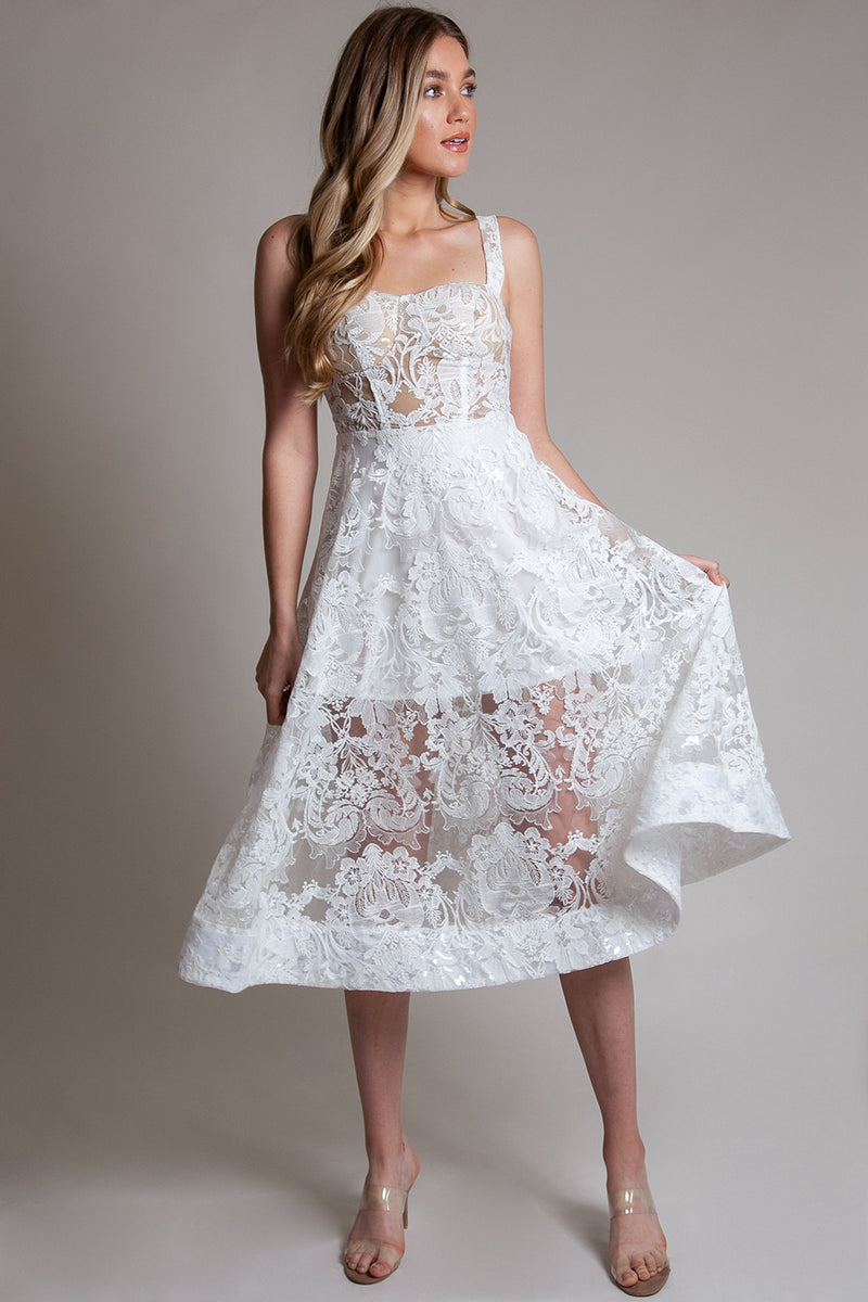 Ivory short wedding dress