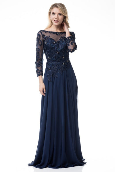 Navy Mother of the Groom Dress