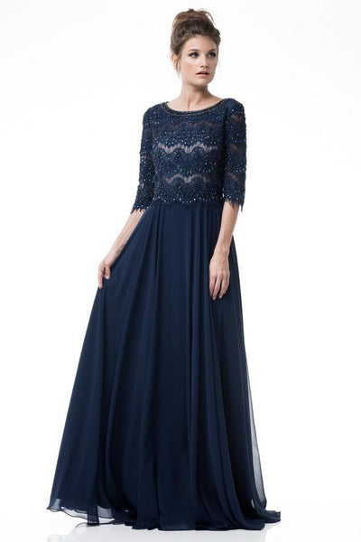 3/4 Sleeves mother of the bride dress