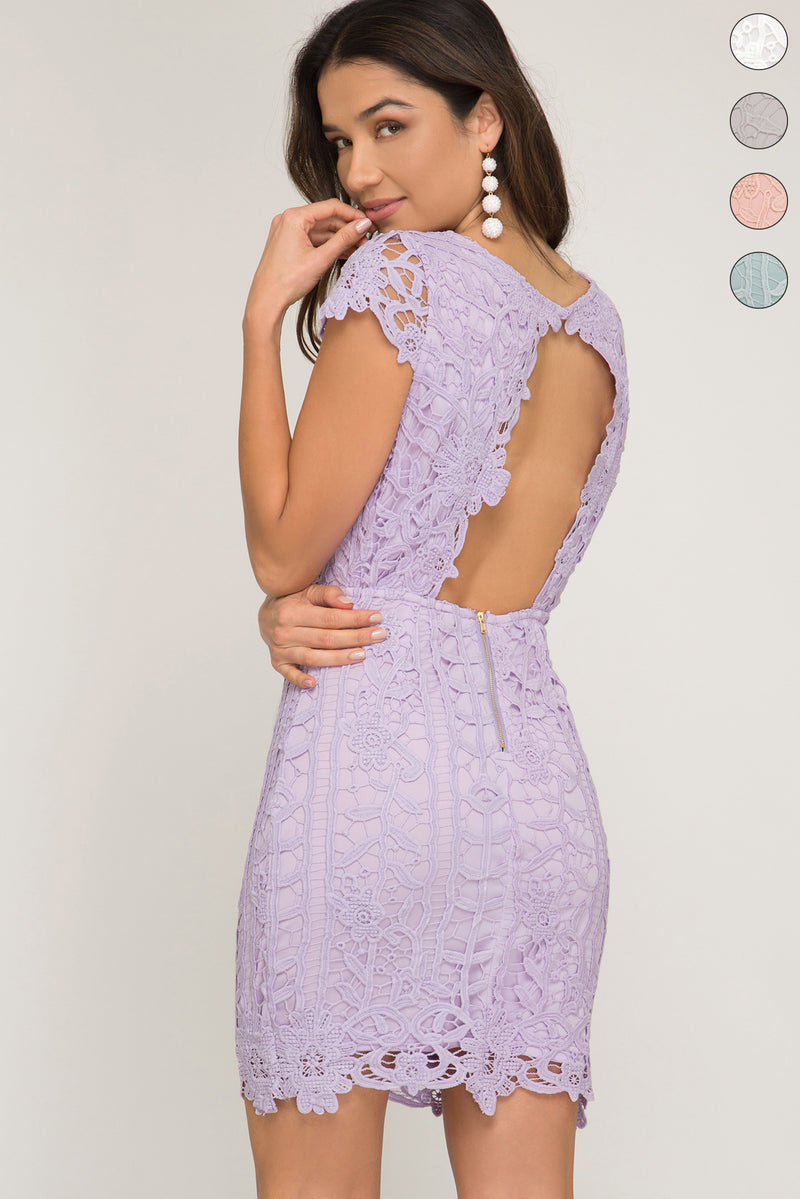 Lilac wedding guest dress