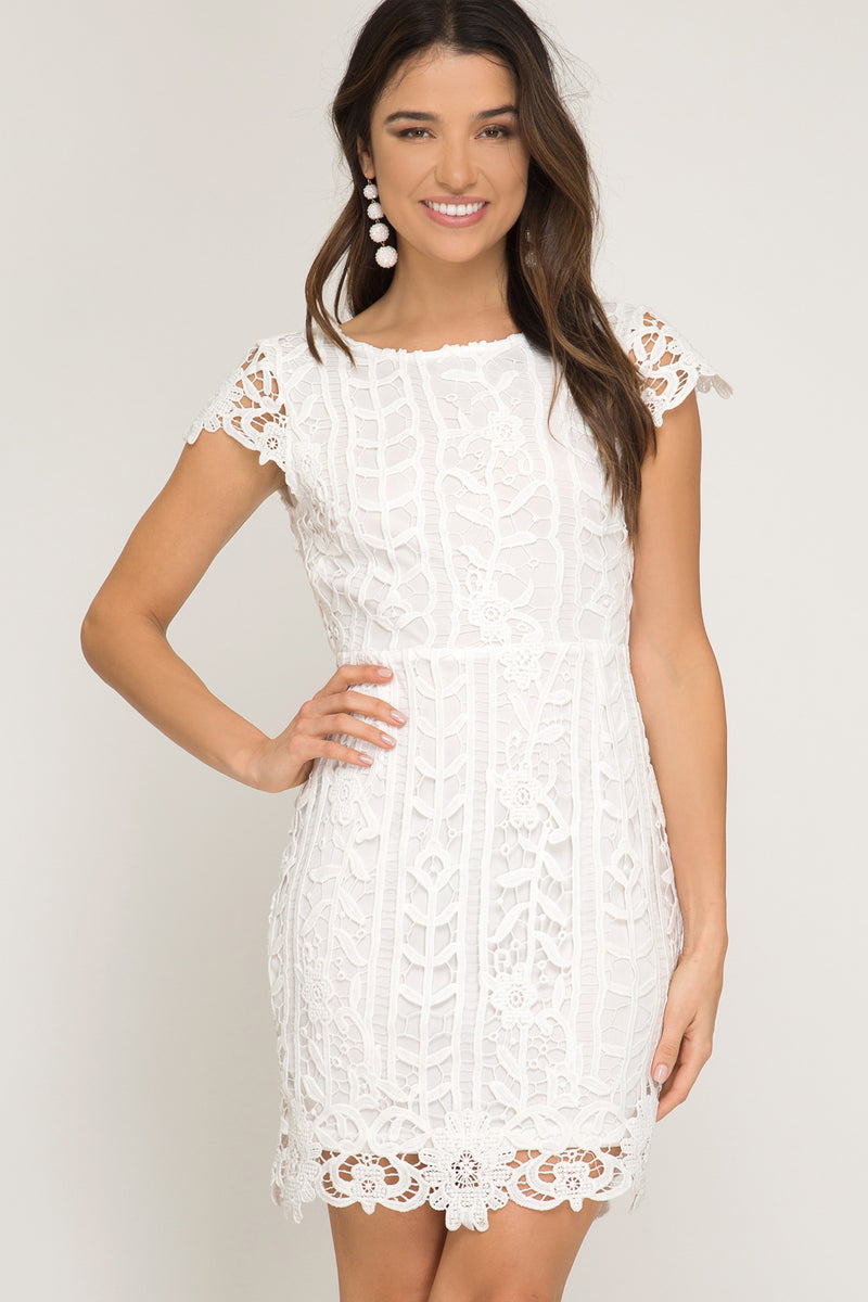 off white Bridal shower dress