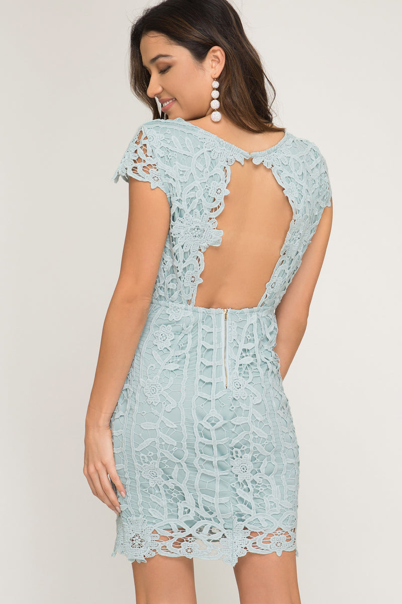 Seafoam wedding guest dress