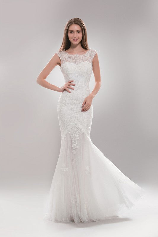 Gorgeous mermaid wedding dress in Ivory and White Bridal Gown ...