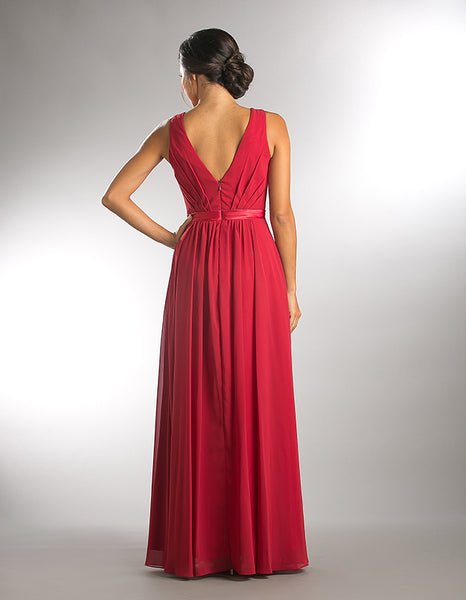 Affordable Chiffon Bella Long Bridesmaid Dress in Rose, Lavender, Taupe & Red