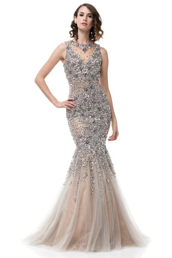 Fully Embellished Rhinestone Gown
